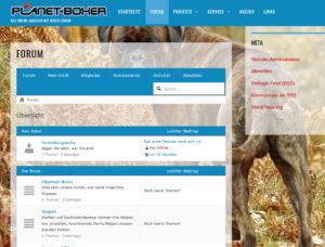 Bildschirm Kopie vom Forum
